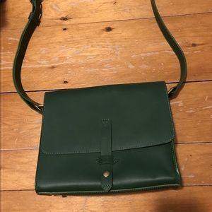 Green Leather Beca by Joy Gryson bag.